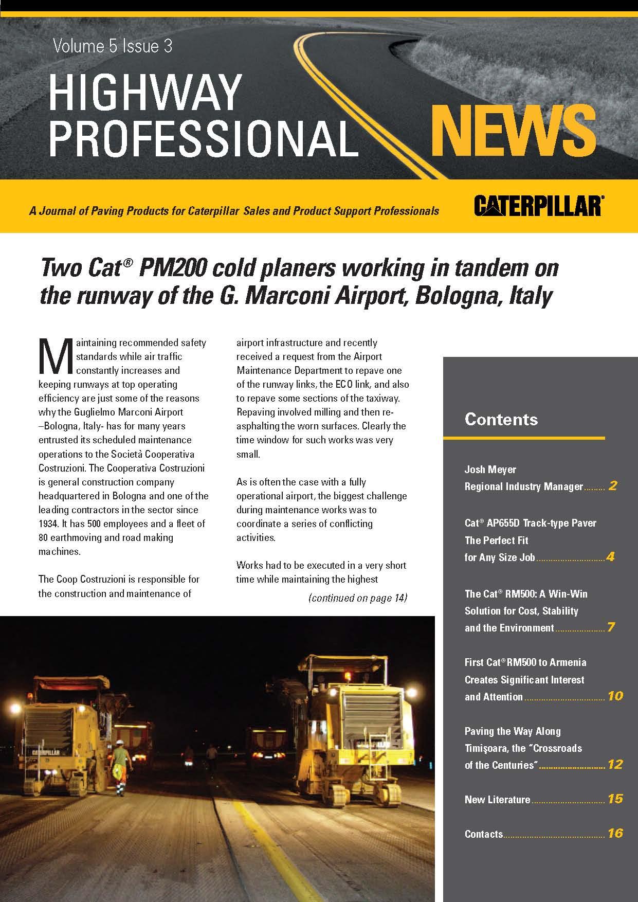 Ճանապարհ Ընկերությունը Highway Professional News ամսագրում